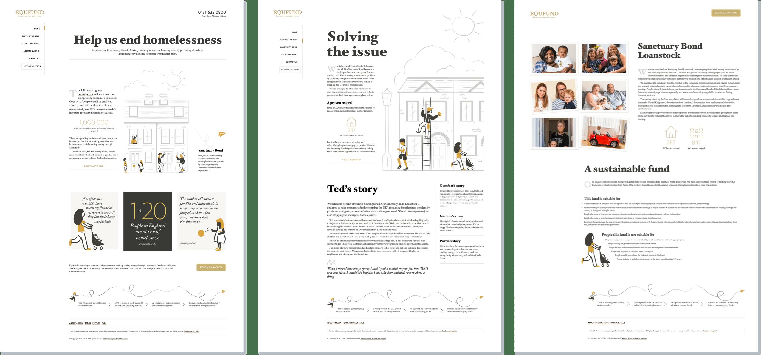 Equfund website redesign