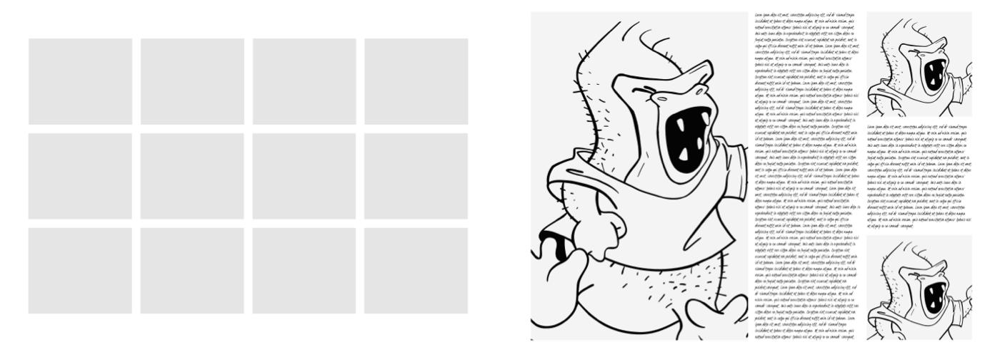 Modular grid for website design