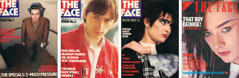 Various Face magazines from the 1980s